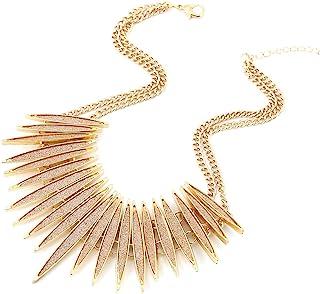 Gold Leaf Effect Tribal Statement Necklace