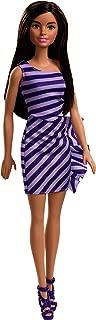Barbie Glitz Doll, Purple & White Stripe Ruffle Dress