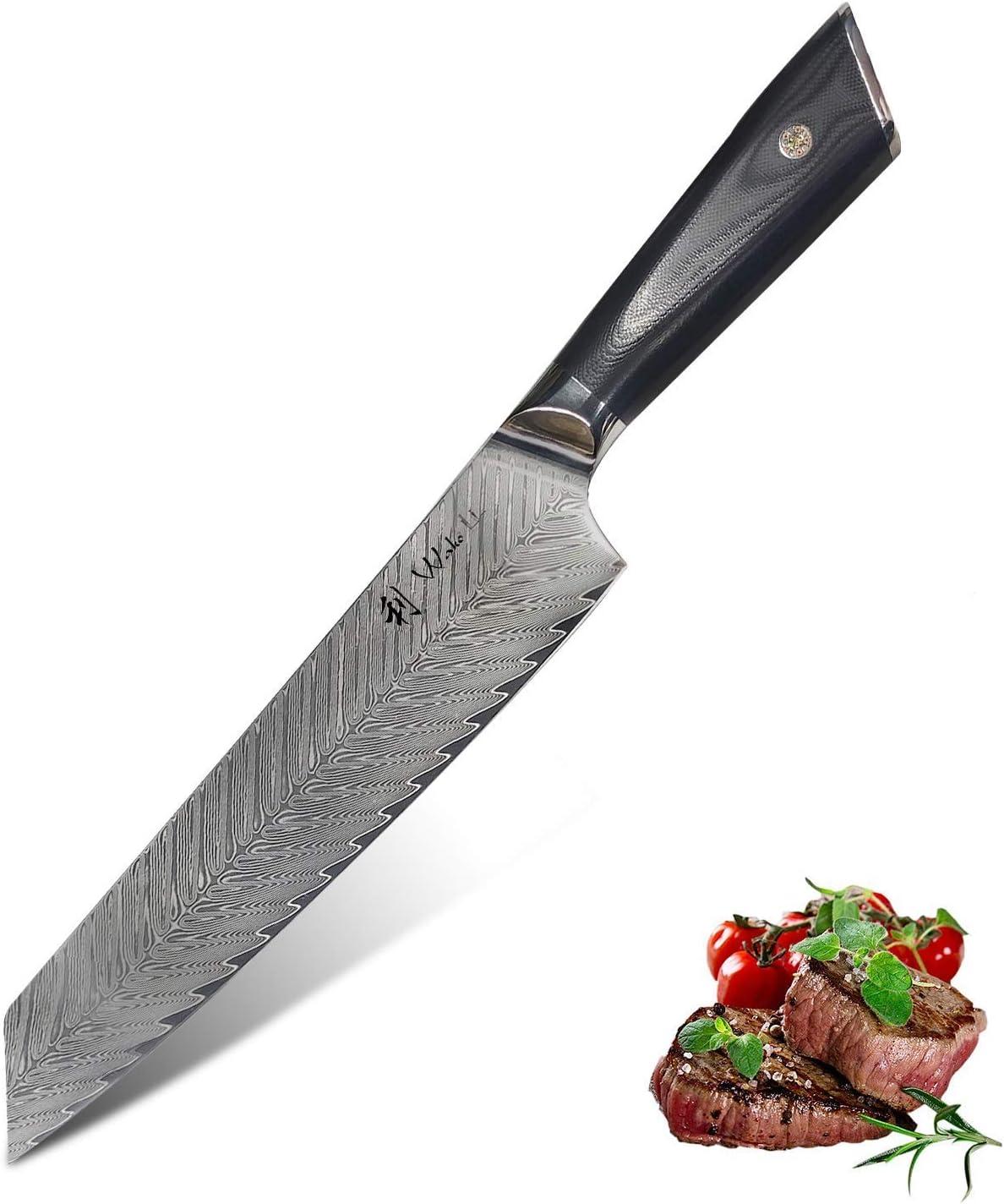 Lowest price challenge Large special price Wakoli Damascus Chef knife Medium sharp 8.7-inch bla - extremely