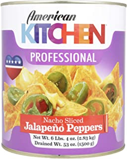 American Kitchen Professional Nacho Sliced Jalapeno Peppers, 2.83 Kg