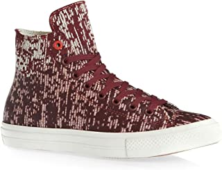 Converse CTAS II Translucent Rubber Womens Trainers Dark Red - 7 UK