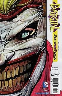 Batgirl #13 Death of a Family Joker Die Cut Variant Cover 1st Print 2012 New 52