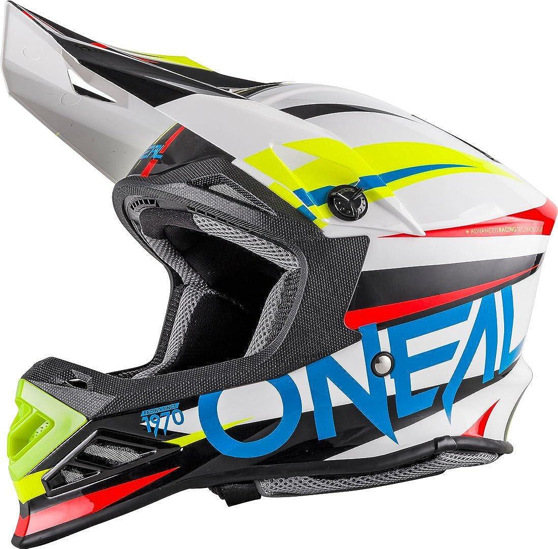 O Neal 8series Mx Helm Aggressor Weiß Blau Motocross Enduro Offroad Quad Cross 0614 61 Bekleidung