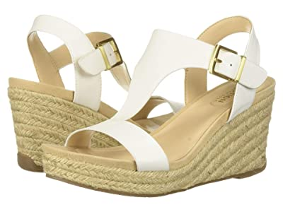 Kenneth Cole Reaction Card Wedge (White Smooth) Women