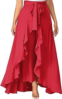 ADDYVERO Women's Solid Flared Skirt
