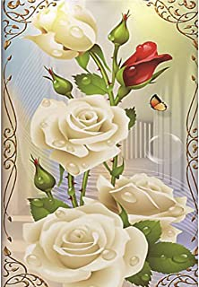 Oucan DIY 5D Diamond Painting Kit,Flower Full Drill Paint Cross-Stitch Diamond Painting Embroidery Diamond Painting Photo for Adults Home Decor (3020cm)