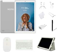 Tablet 10 Pulgadas YESTEL Android 8.0 Tablets con 3GB RAM & 32GB ROM y 4G LTE Dual SIM Call, 5.0 MP + 8.0 MP HD la Cámara y 8000mAH (WI-FI ,GPS, Bluetooth ,FM Radio) -Plata