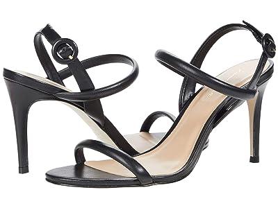 Massimo Matteo Evening Leather Sandal (Black) Women