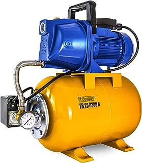 Pompe /à eau douce pompe /à eau /à amor/çage automatique du diaphragme /à haute pression 12V DC 100W 8L//Min 160Psi avec 2 colliers de serrage pour la pompe de surpression darrosage de pelouse de jardin /à