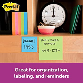 Post-it Super Sticky Notes, 2 in x 2 in, 8 Pads, 90 Sheets/Pad (622-8SSAU)