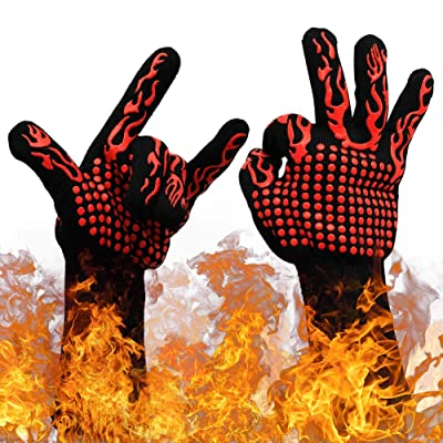 """Pair 13"""" Long 1472°F BBQ Grill Gloves Extreme ..."""