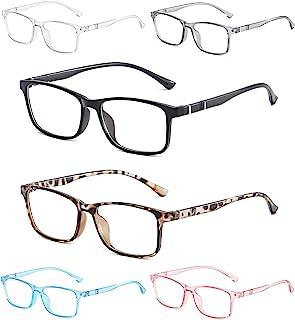 NOVIVON 6-Pack Blue Light Blocking Reading Glasses, Fashion Lightweight Anti Glare/UV Ray Eyeglasses for Women/Men