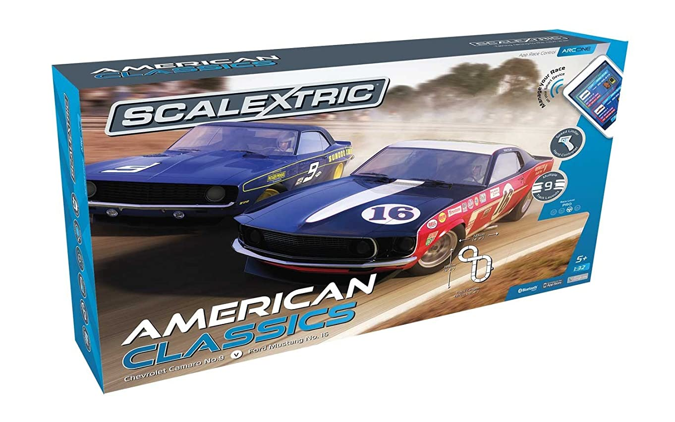 Scalextric ARC One American Classics 1:32 Slot Car Race Track Playset