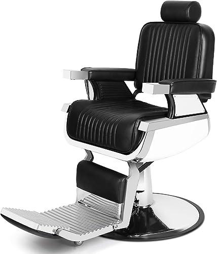 Artist Hand Heavy Duty Hydraulic Recline Barber Chair Salon Chair Barber Chairs for Hair Stylist Tattoo Chair Barber Salon Equipment (Black)