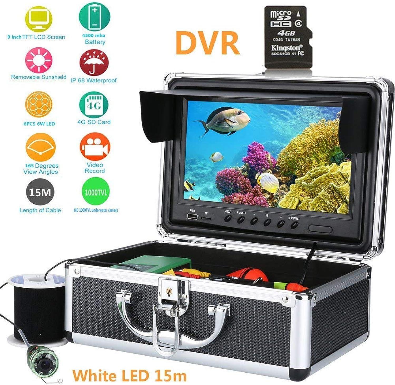 Fish finder 15M 9' Zoll Farbe Digital LCD 1000TVL HD DVR Recorder Wasserdichte Angeln Video Unterwasserfischerei Kamera