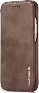 Leather Cover Compatible with iPhone Xs Max, coffee Wallet Case for iPhone Xs Max