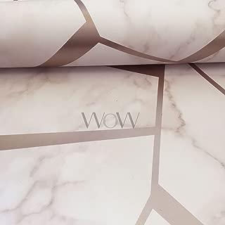 Fractal Geometric Marble Wallpaper Rose Gold - Fine Decor FD42264