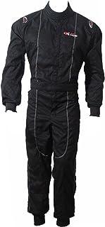 Nuevo Traje de karting para adultos/Carrera/Rally Trajes de una pieza Traje Algodón Poli Mono 3 colores brillantes (negro, S)
