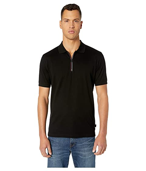 Paul Smith Regular Fit Polo with Cycyle Stripe Zip Tape