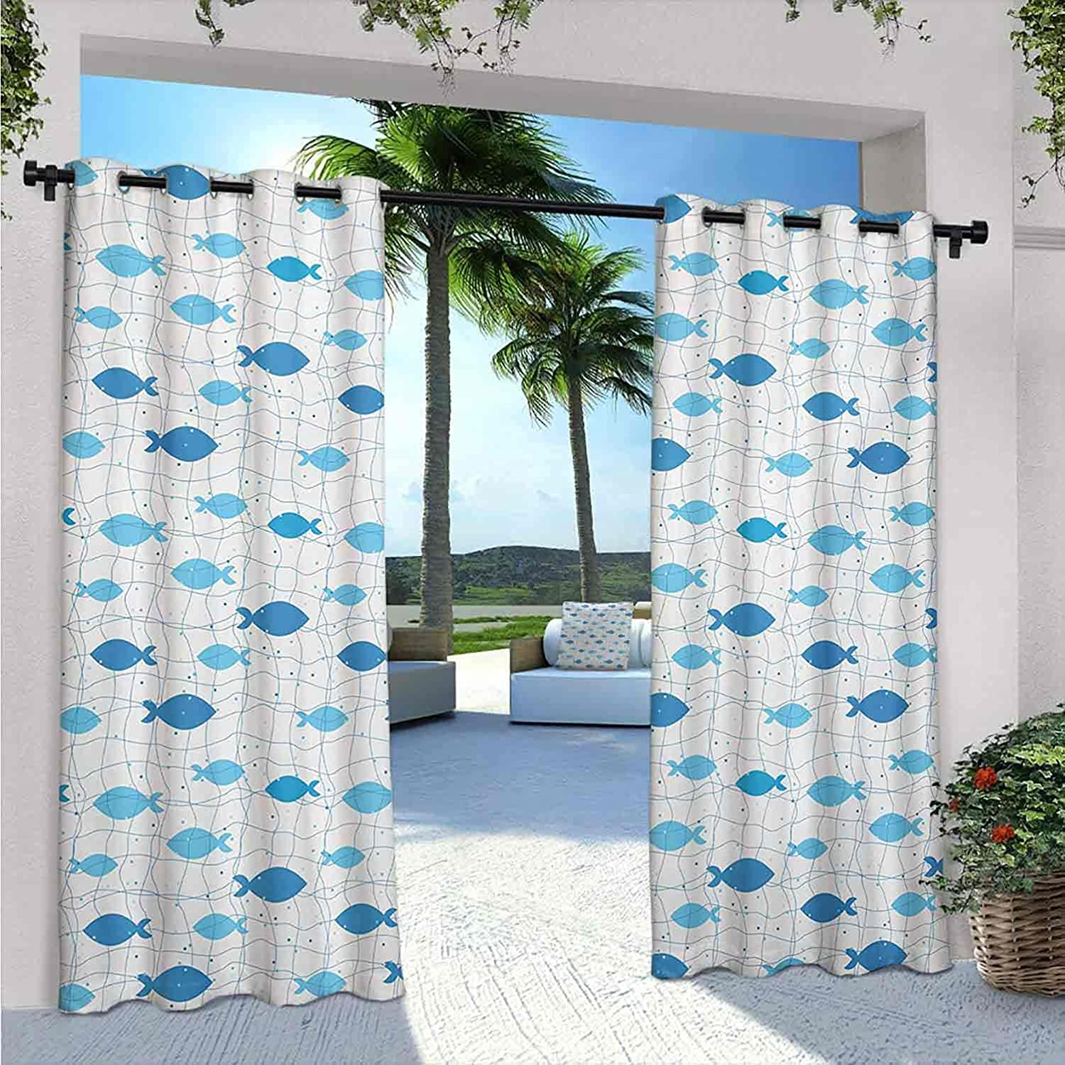 Fish Waterproof Indoor Outdoor Curtains for Limited price sale Patio Net with store