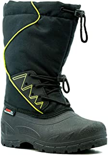 Boys' Winter Snow Boots Waterproof Winter Lined Rated to -40°F Made in Canada Size (13) Black