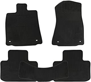 San Auto Car Floor Mats for Lexus is RWD IS250 IS350 IS300 2014 2015 2016 2017 2018 2019 2020 Custom Fit Rubber Auto Carpet Liners Set All Weather Protection Heavy Duty Odorless Full Black