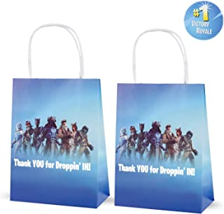 12 PCS Video Game Party Supplies Favor Gift Bags, Goodie Bag for Birthday Party