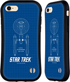 Official Star Trek USS Enterprise NCC-1701 Ships of The Line TOS Hybrid Case Compatible for iPhone 7 / iPhone 8