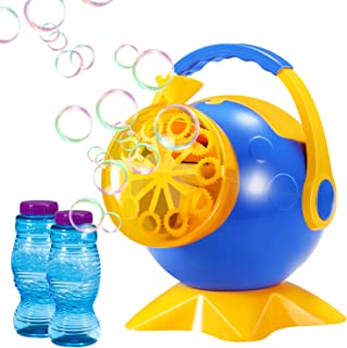 Geekper Bubble Machine, Automatic Bubble Blower Durable Bubble Maker with 2 Bottles of Bubbles Solution Refill, Over 800 Colorful Bubblesper Min Use