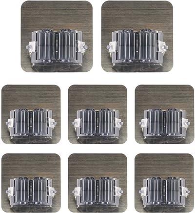 K/üchehalterung,Wandhalterung mit Haken,Edelstahl rostet nicht f/ür K/üchen,Bar und Badezimmer 5 Hanken K/üchenhelfer doppeln H/ängeleiste
