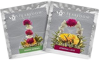 Teabloom Flowering Tea - Eternal Love and Rising Spring Blooming Teas - 2 Gourmet Tea Blossoms