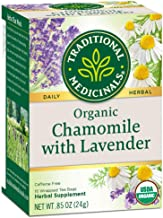 Traditional Medicinals Organic Chamomile with Lavender Herbal Tea Bags, 16 Count