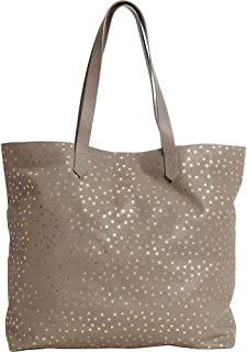 Clava Leather Tote with Gold Foil Stars