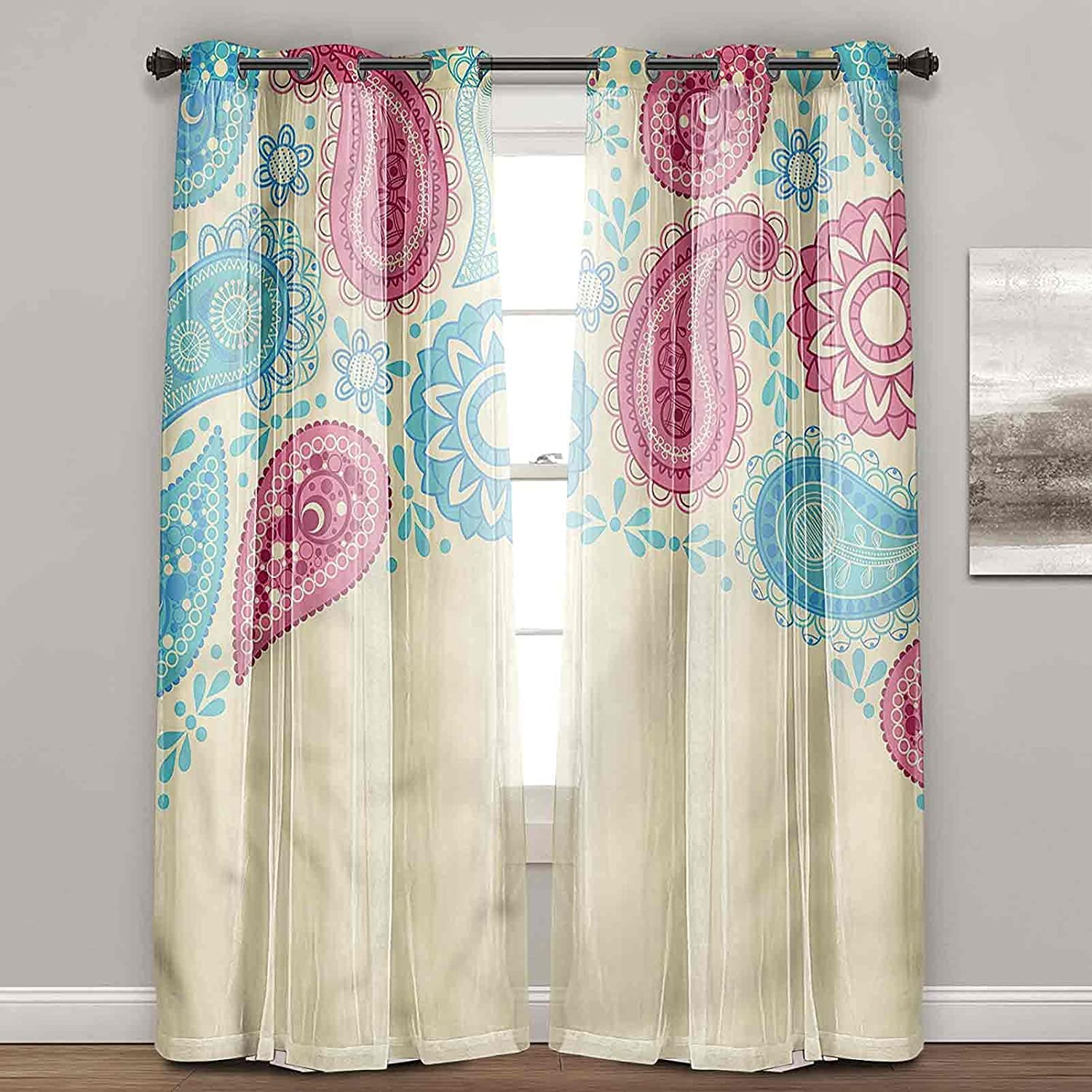 Light Blocking Curtains Paisley Leaves SEAL limited product with Design Persian Sou New Orleans Mall