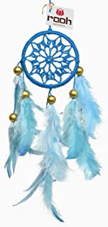 Rooh Dream Catcher ~Sky Blue Crochet ~ Handmade Hangings for Positivity (Can be Used as Home Décor Accents, Wall Hangings, Garden, Car, Outdoor, Bedroom, Key Chain)