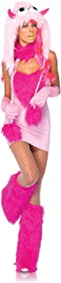 Costumes 2Pc.Pink Puff Halter Dress and Furry Monster Hood
