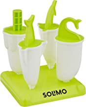 Amazon Brand - Solimo Plastic Popscicle Maker Set, 4-Pieces, Green