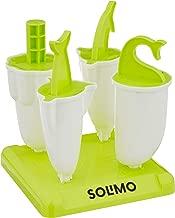 Amazon Brand - Solimo Plastic Popscicle Maker Set, 4-Pieces, Green