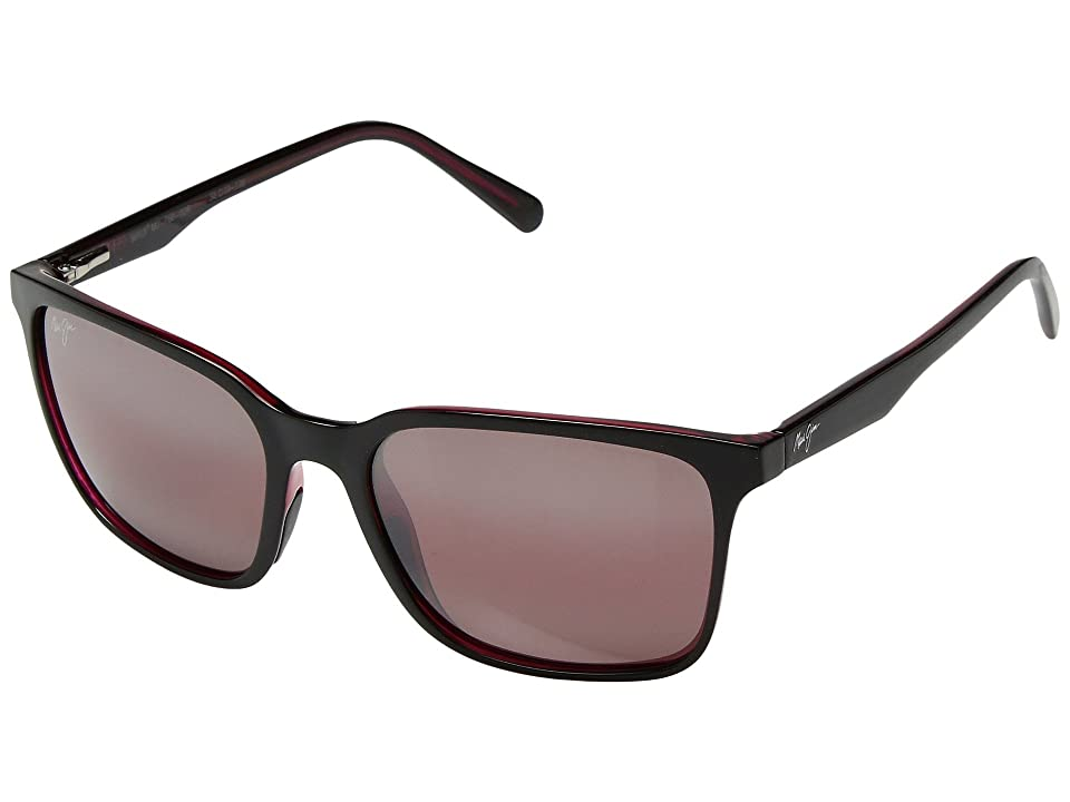 Maui Jim Wild Coast (Black/Red Interior/Maui Rose) Athletic Performance Sport Sunglasses