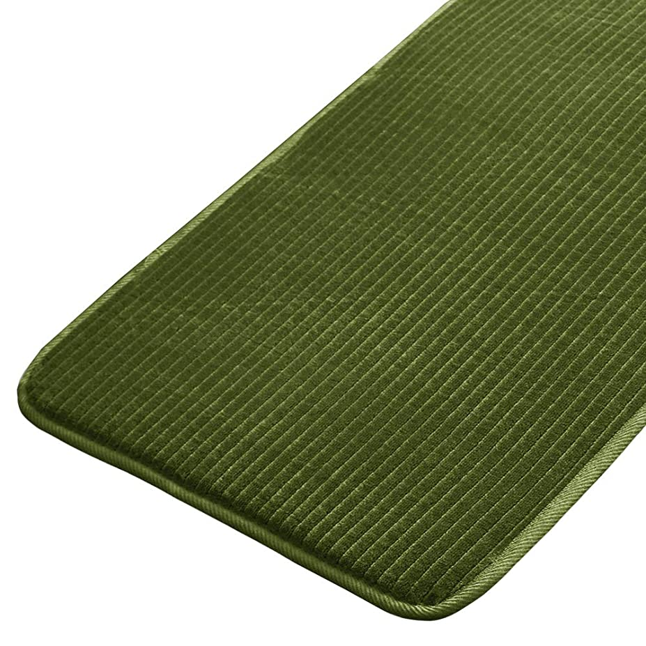 厚くする息切れステーキセシール キッチンマット グリーン 120×50cm はっ水 ウレタン入り CQ-484