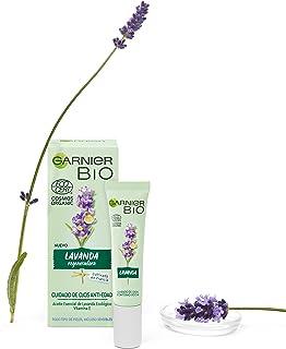 Garnier BIO Crema Antiedad para el Contorno de Ojos con Aceite Esencial de Lavanda Ecológico y Vitamina E Hidrata y regene...