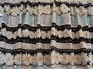 Valance Mason Jars Daisies Live Laugh Love Valance Custom Made 58