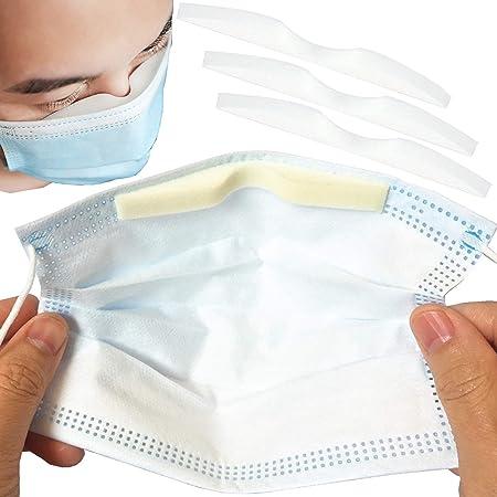 NUANNUAN 200pcs Sponge Nose Bridge Pad Microfiber Memory Foam Anti-Fog Protection Strip Seal Nose Cushion Self-Adhesive Nose Bridge Pads for DIY Masks Sewing Crafts Sponge Protection Strip Sealing
