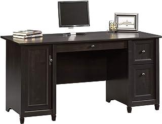 "Sauder Edge Water Computer Desk, L: 59.06"" x W: 23.23"" x H: 29.02"", Estate Black Finish"