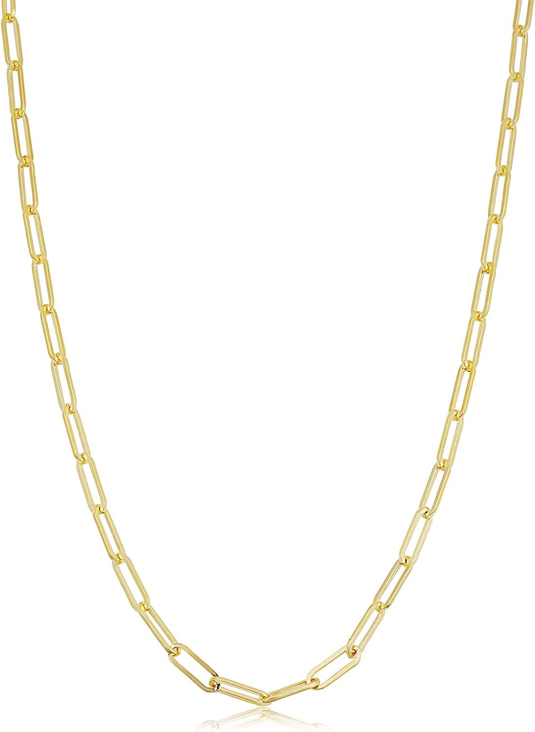 Solid 14k Yellow Gold Max 43% OFF Max 76% OFF Filled 2.5 Chain Paperclip Min mm Necklace