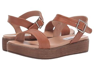Steve Madden Aida-1 Platform Sandal (Cognac Leather) Women