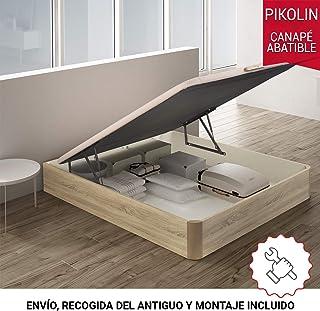 PIKOLIN canapé abatible Gran Capacidad de almacenaje Color Natural 150x190 Servicio de Entrega Premium Incluido