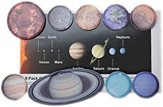 9 Pack Solar System Sticky Note Set, Space Set