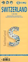 Laminated Switzerland Map by Borch (English, Spanish, French, Italian and German Edition)