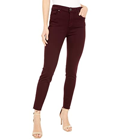 KUT from the Kloth Donna High-Rise Ankle in Deep Wine (Deep Wine) Women